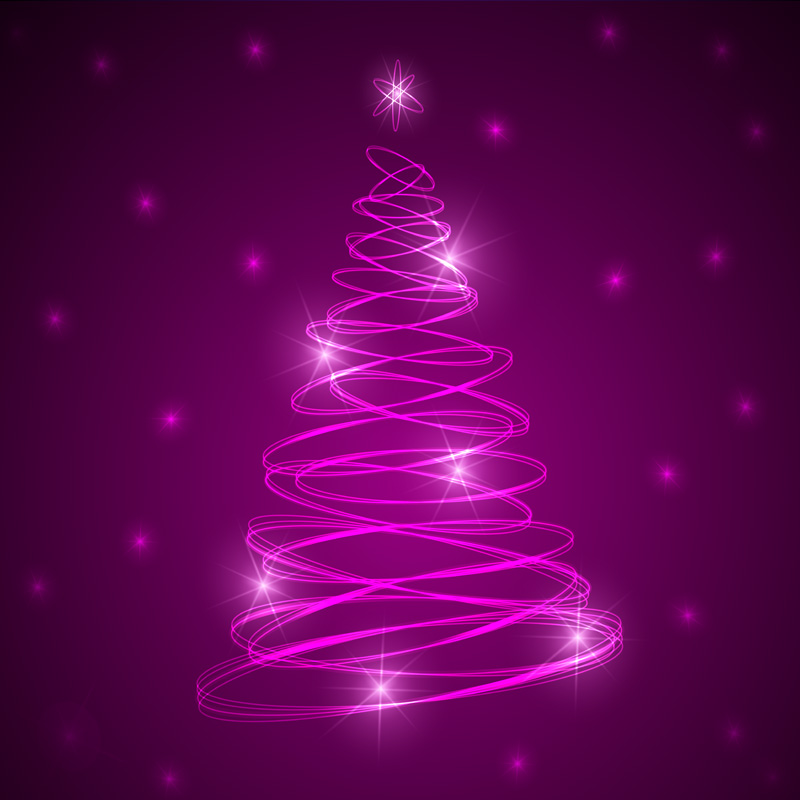 Christmas tree background by vectorbackgrounds