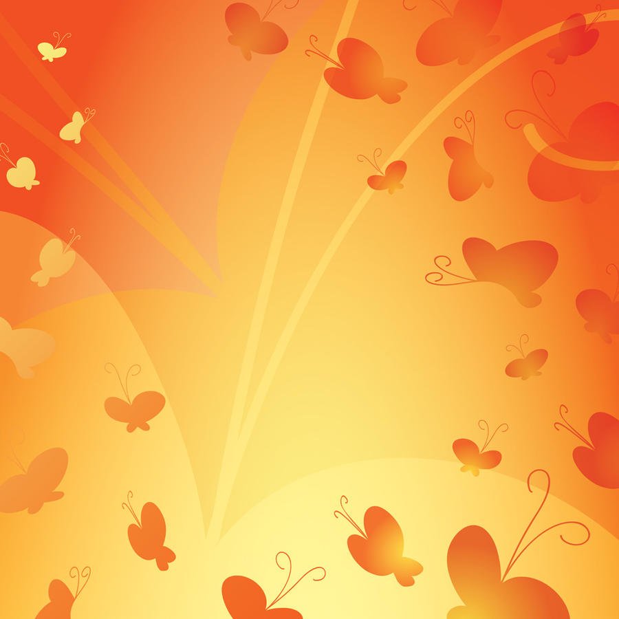 Aninimal Book: Orange Butterfly Background