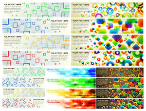 colorful banner background vector graphics