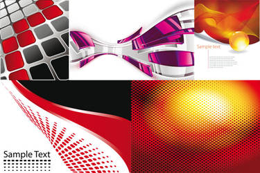 Red grid background vector graphics