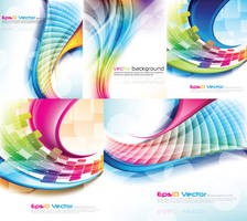 Colorful Light Lines Vector Background