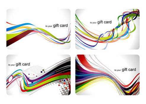 Abstract Business Cards Background