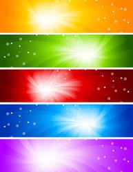 glare banner background vector graphics