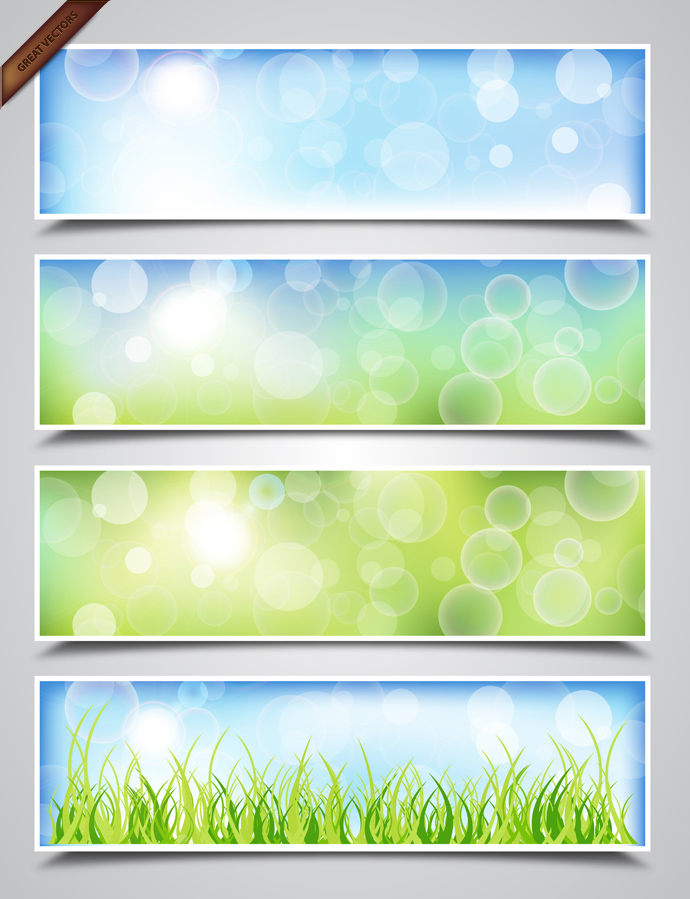 Spring-nature-banners by vectorbackgrounds