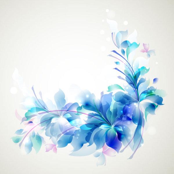 Elegant-Blue-Flower-background By Vectorbackgrounds On