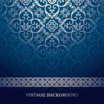 blue-European-pattern-vector-background