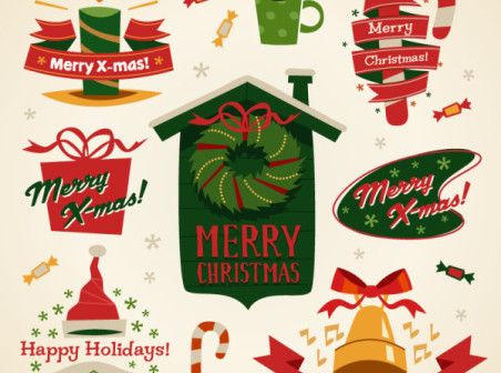 Fun-Christmas-element-tag-vector-material by vectorbackgrounds