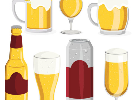 Cartoon-style-beer-amount-of-material by vectorbackgrounds