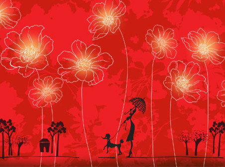 Red-flowers-vector-background-cover-design by vectorbackgrounds