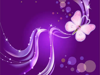 Dream-Purple-Butterfly-vector-background
