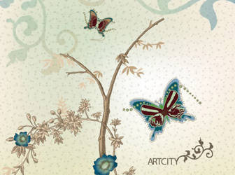 Butterfly-flowers-vector-background-cover-design
