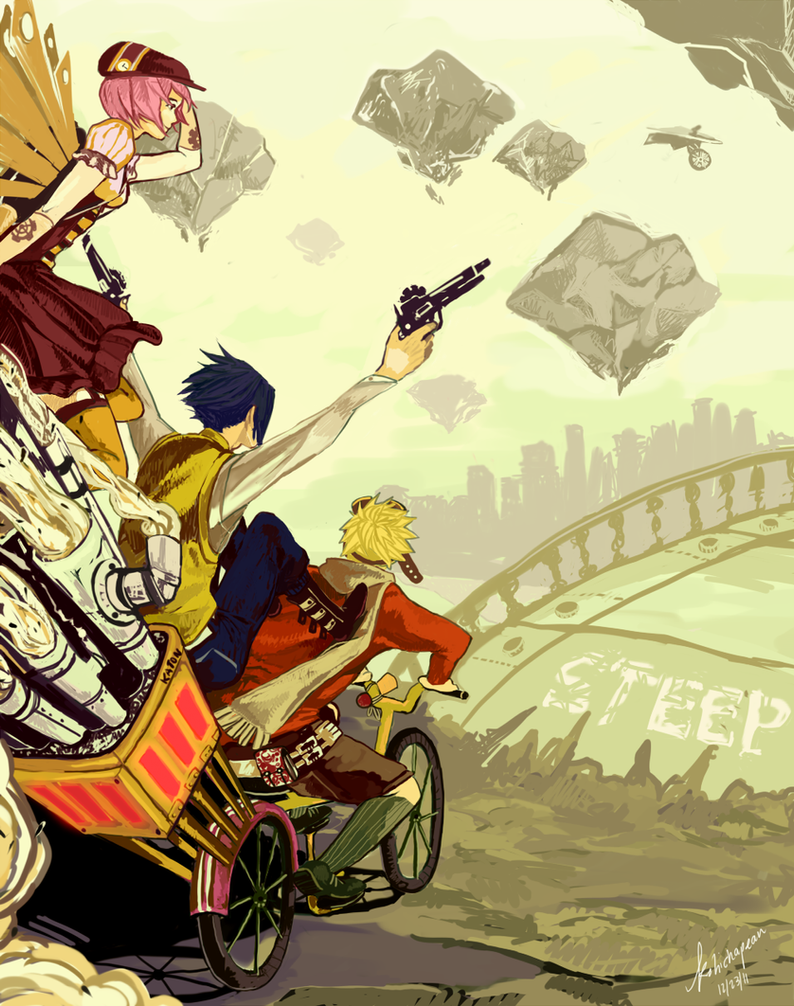 Team 7 n' Steampunk by KohiChapeau
