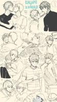 KnB: KagaKuro doodle dump by KohiChapeau