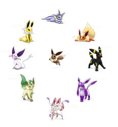 How I draw Eevees 2015 by Bman-64
