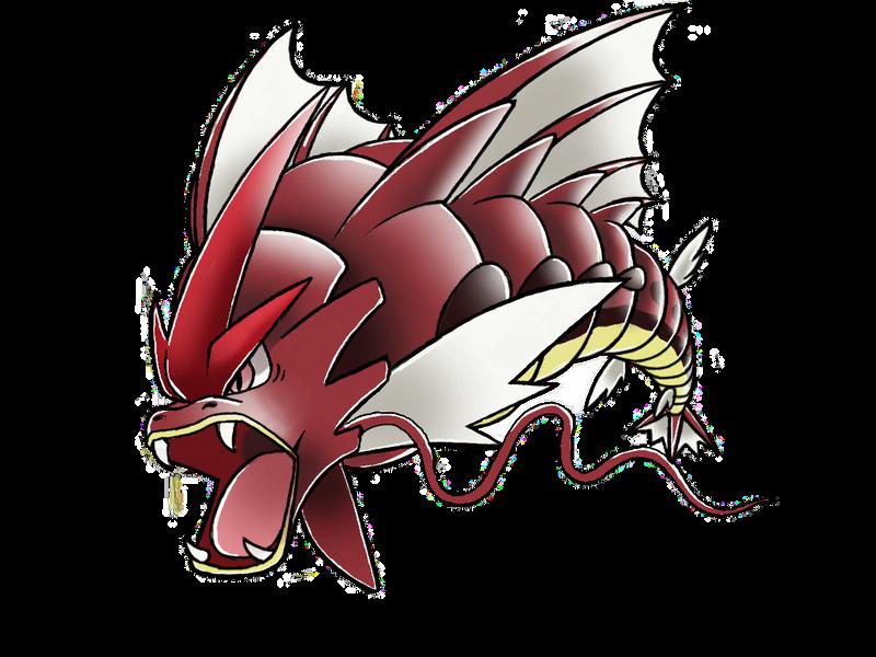 Fair use: Mega Gyarados (shiny) by Bman-64 on DeviantArt Pokemon Mega Red Gyarados