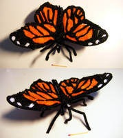 Pipe Cleaner Monarch Butterfly by kisses4cuddles