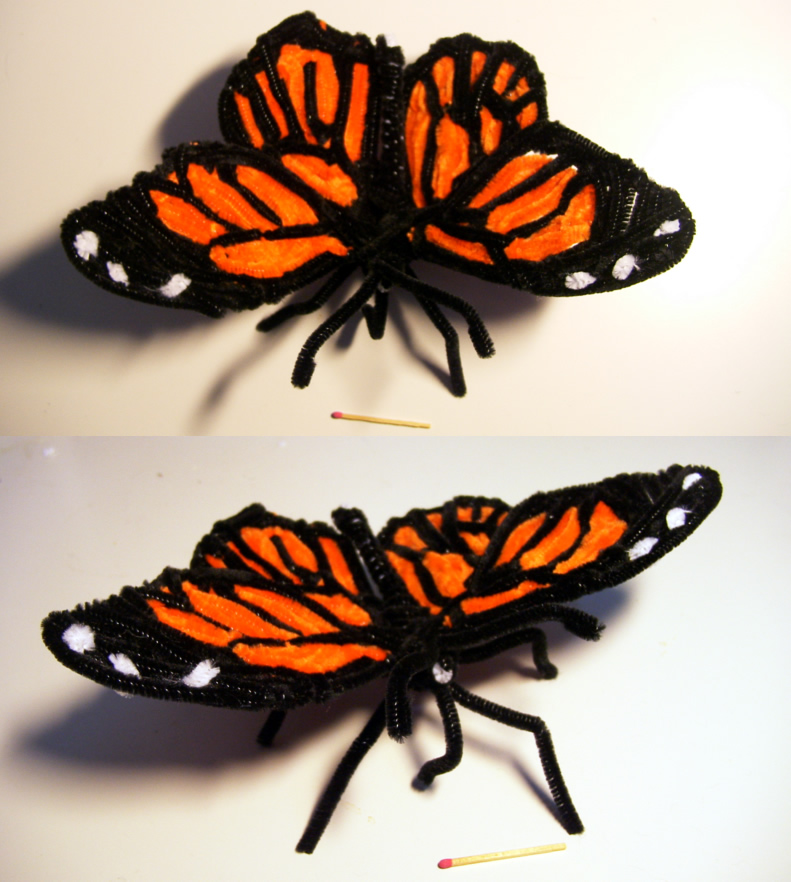 Pipe Cleaner Monarch Butterfly by kisses4cuddles ... & Pipe Cleaner Monarch Butterfly by kisses4cuddles on DeviantArt