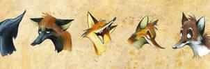 Weird Foxes by Skia
