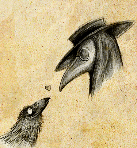 Raven and Plague Doctor by Skia