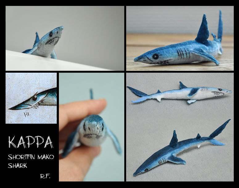 Mako Shark Toys : Kappa the shortfin mako shark soft toy by skia on deviantart