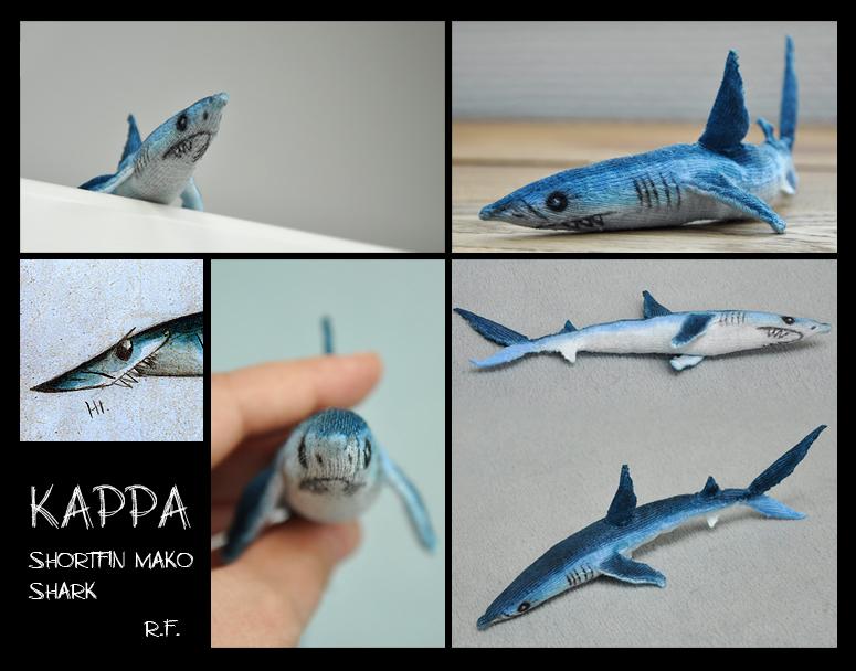 Mako Shark Toys : Kappa the shortfin mako shark soft toy by skia on deviantart