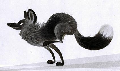 Fox On The Run by Skia