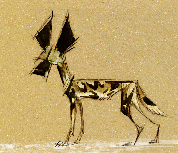 African Wild Dog by Skia