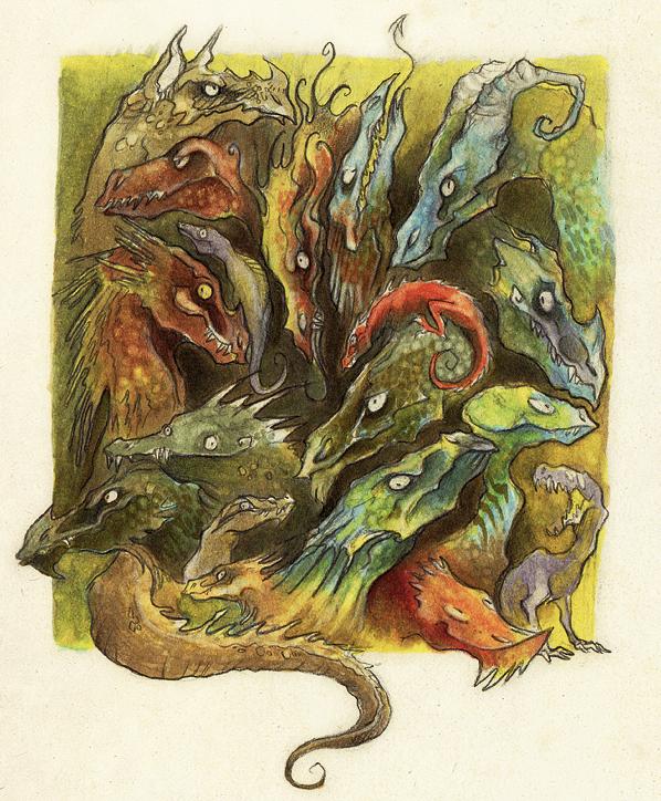Dragons by Skia