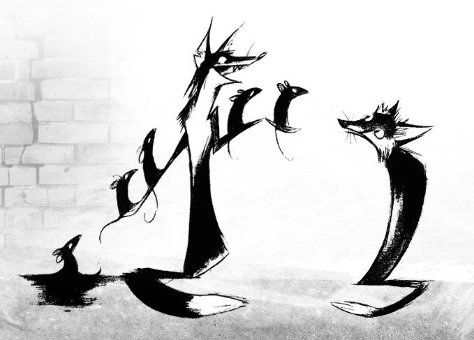 Schattenratten, Rattenschatten by Skia