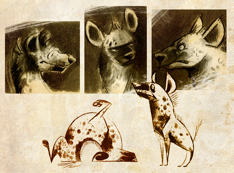 Hyena Doodles by Skia