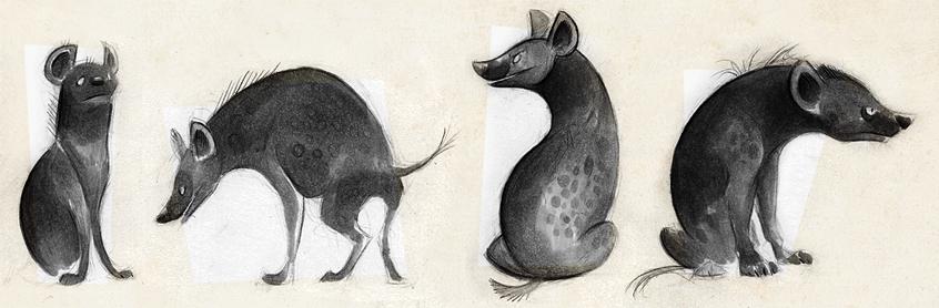 Hyenas II by Skia
