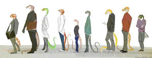 Snakes in a Line