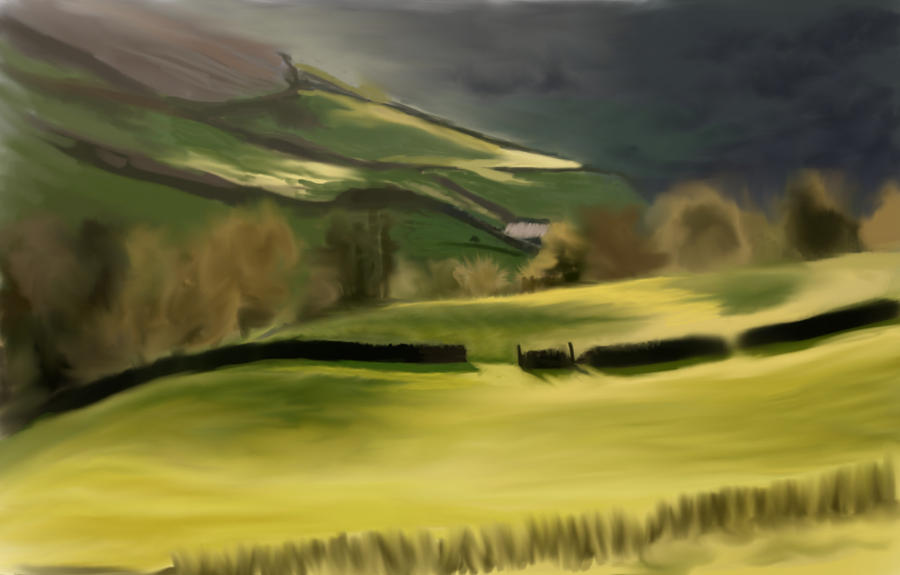 Landscape exercise by rainbow-color