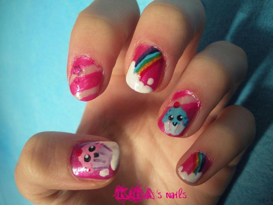 Yoko Nail Art Cupcake : Cupcakes Nails by KiraSTFD on DeviantArt
