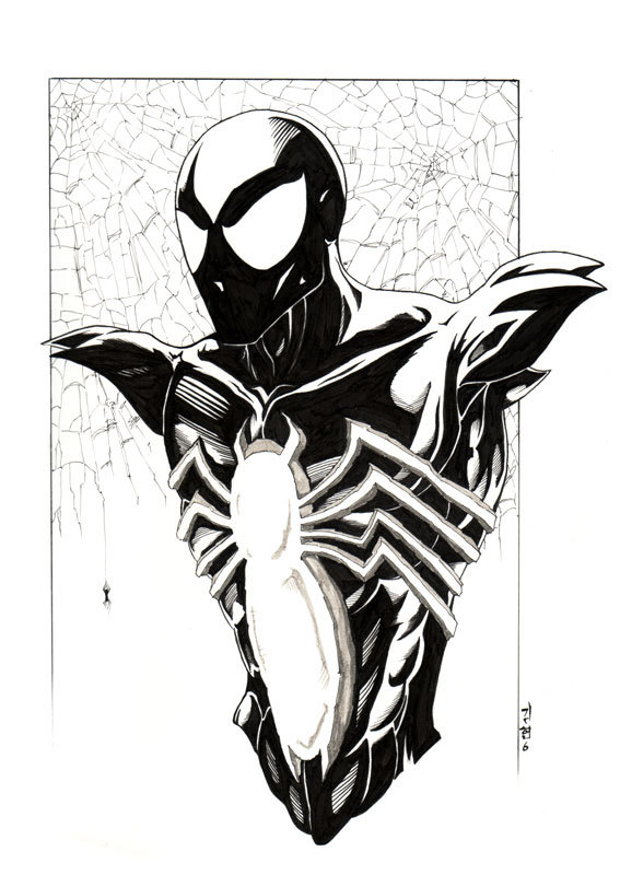 spiderman: black by road2damascus on DeviantArt