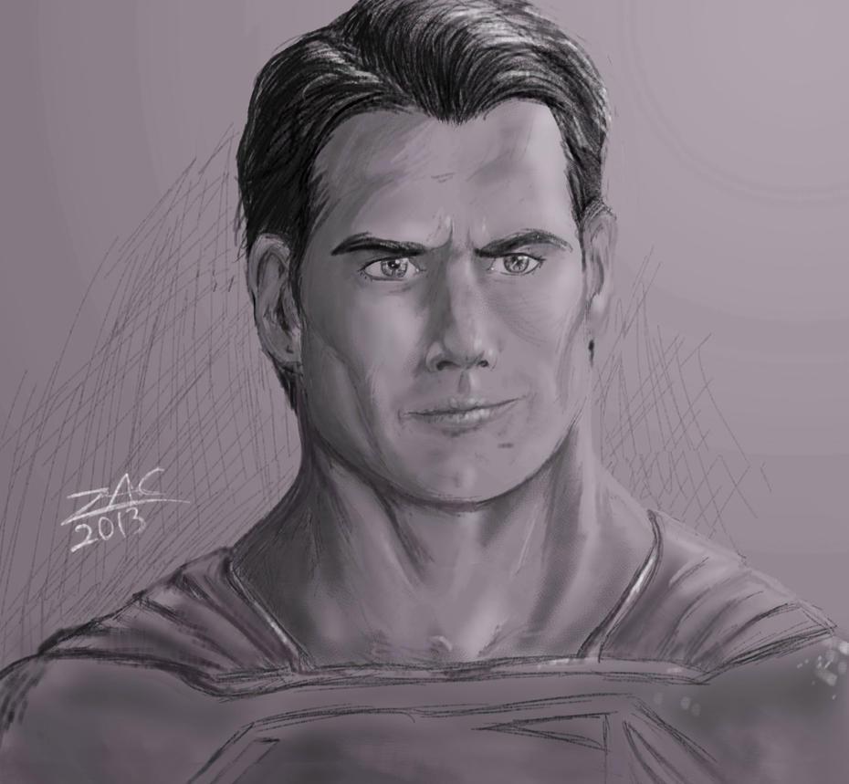 Man Of Steel Head Sketch by zclark