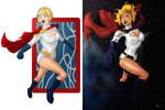 Powergirl redo side by side