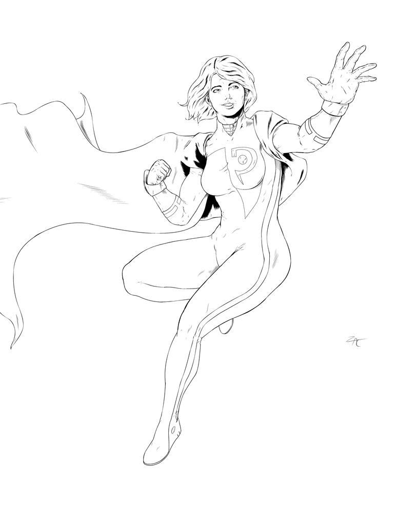 Power Girl Inks by zclark