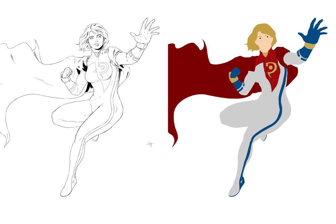 Power Girl Flats by zclark