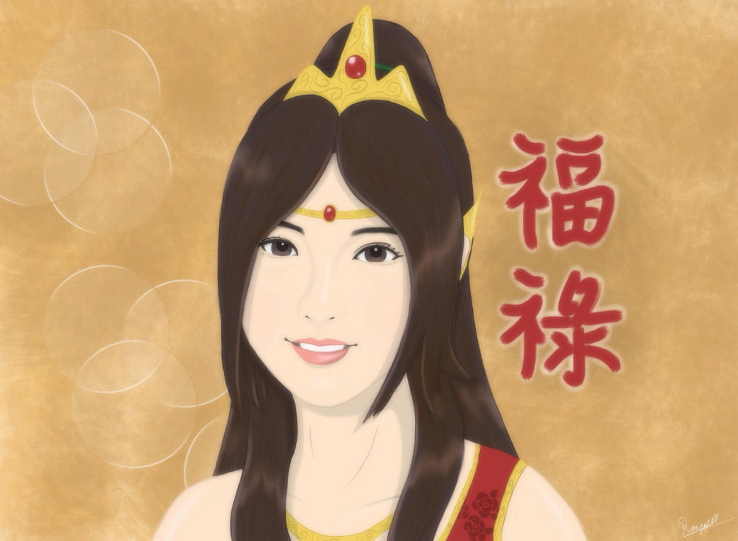 Mae Nang Kwak (V3) re-done on iPad by ronggo