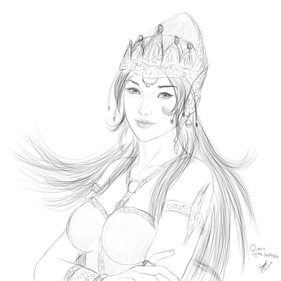 Queen of The South Sea Sketch #1 by ronggo