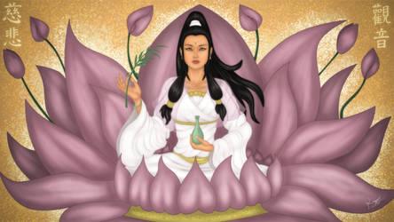 The Avalokitesvara Bodhisattva by ronggo