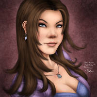 Portrait Illustration Digipaint 1 (Aliceleonz) by ronggo