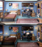 Visual Novel Project Apartment Room Concept