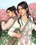 Guo Jing and Huang Rong (Fan Art)