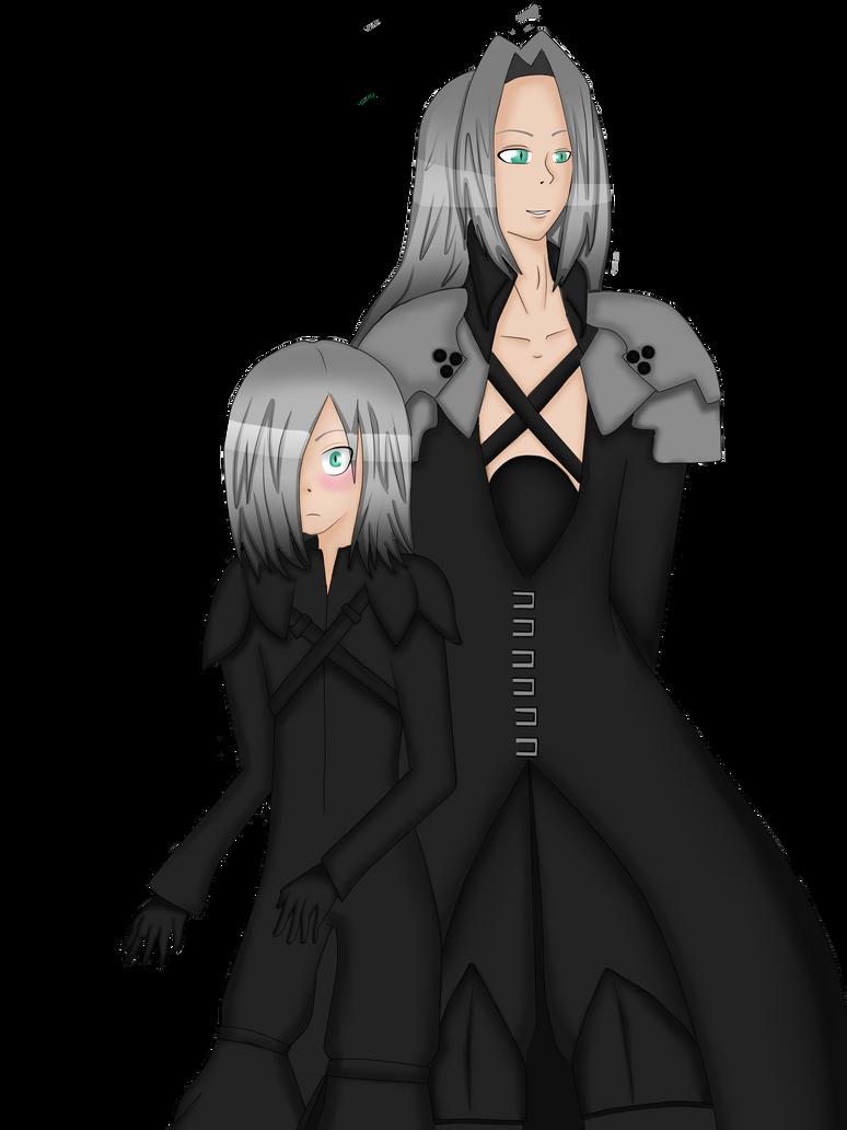 Sephiroth and Kadaj COMMISSION by TaiyoTsuki5000