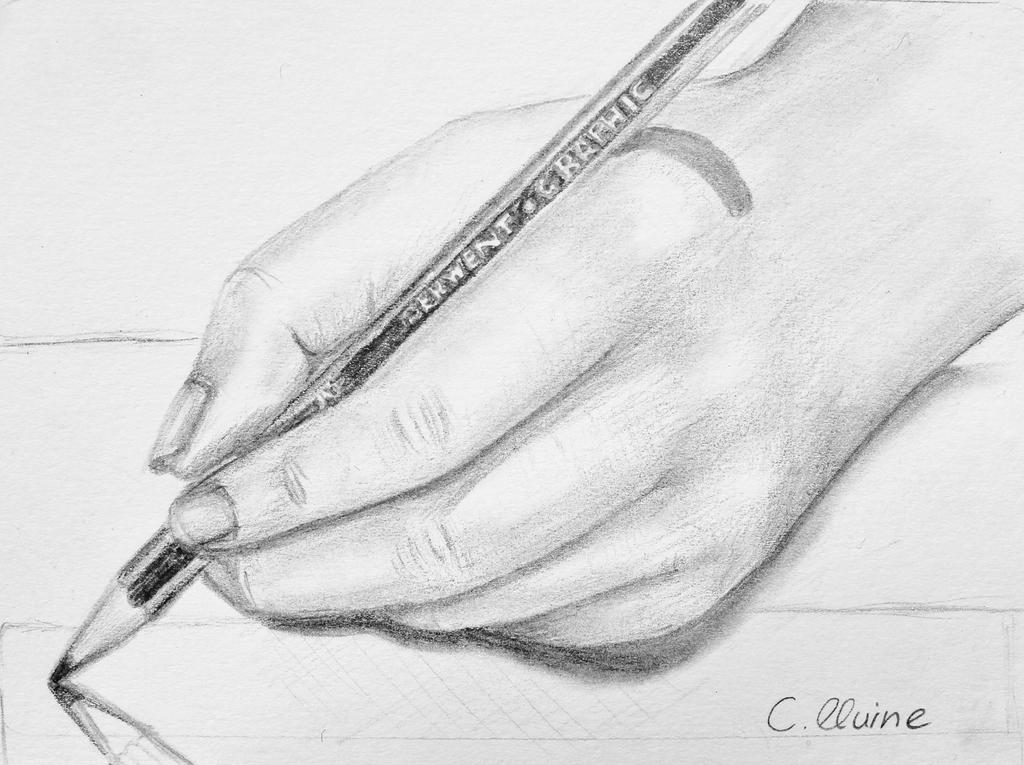 Drawing of my hand drawing by christina 0o