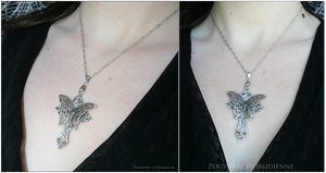 Collier Instant Papillon. by PoussiereObsidienne