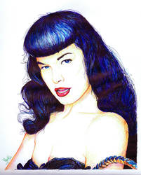 Bettie Page. A3 by el-Sheriff