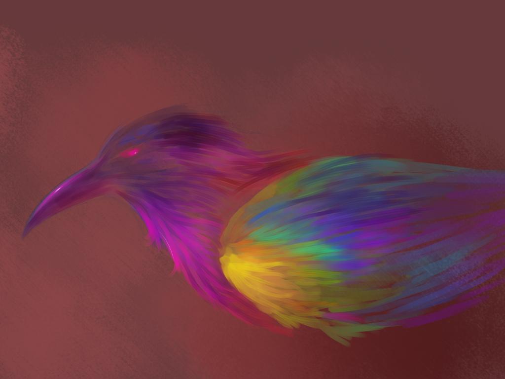 Rainbow Bird - WIP? by ViktoriaMagrey